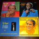 "PERRY COMO 4 LP 12"" Lot: And I Love You So, By Request, Easy Listening, Dream On"