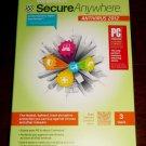 Webroot SecureAnywhere Antivirus 2012 Windows Security Software 3 PC User NEW