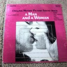 """A Man And A Woman - Original Motion Picture Soundtrack Vintage 12"""" Vinyl LP"""
