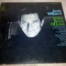 """Andy Williams - In The Arms of Love 1967 Vintage 12"""" Vinyl LP Record CL 2533 VG"""