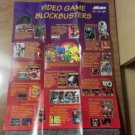 Vintage Acclaim Old School Video Game Blockbusters Retro Advertising Poster NICE