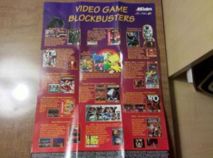 Vintage Acclaim Old School Video Game Blockbusters Retro Advertising Poster NICE