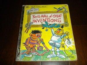 A Little Golden Book: Bert's Hall of Great Inventions, Sesame Street #321 (1978)