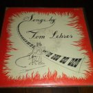 "Tom Lehrer - Songs By Tom Lehrer 1953 LP 12"" Vinyl Novelty Pop Album TLP-1 VG+"
