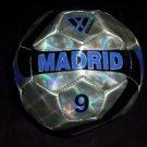 VIZARI Brand Fun Small Size Mini Toy Soccer Ball, Shiny Madrid #9 Design NEW