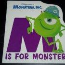 M Is for Monster, Walt Disney Enterprises & Pixar Animation Hardcover Board Book