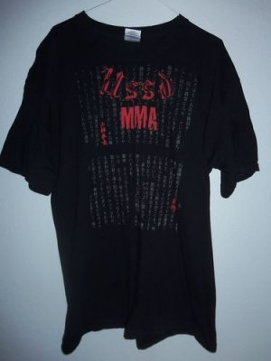 USSD MMA San Clemente Mixed Martial Arts Chinese Black T-Shirt Men's Size Large