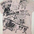 AMERIKAN Clothing Co. California Pink Art T-Shirt, Men's Women's Size Small S