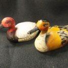 "Set of 2 Nanco Collectible Duck Bird Figures, Figurines From Hong Kong, 3"" Long"