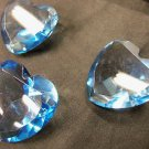 Set of 3 Heart Shaped Crystal Glass Pieces Collectible 4 Valentine's Day Lovers