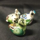 Set of 3 Mexican Painted Ceramic Duck Figurines from Mexico, Easter Decorations