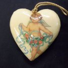 Heart Shaped Baby Angel Cherub Love Hanging Ornament Christmas & Valentine's Day