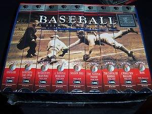 Baseball: A Film by Ken Burns - Nine Inning Boxed Set (VHS 1997, 9-Tape Box Set)