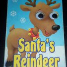 Santa's Reindeer by The Clever Factory (2008, Hardcover Board Book) Christmas