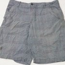 Route 66 Original Clothing Co Casual Black White Plaid Shorts, Men's Size 36 EUC