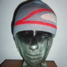 CONVERT Columbia Sportswear Gray / Red Skull Cap Beanie Hat, One Size Youth NWOT