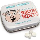 Savory BACON MINTS Pork Flavored Novelty Breath Mints Candy Tin (100 Pieces) NEW