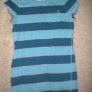 American Eagle tshirt mini pocket Xtra Small striped blue pink cute