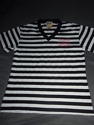 Escaped From Alcatraz San Francisco Prison Stripe T-Shirt Youth Girls Sz XL NWOT