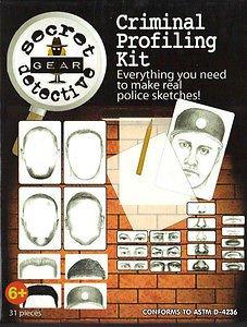 Secret Detective Gear Police Sketch Artist Criminal Profiling Kit Toy BRAND NEW