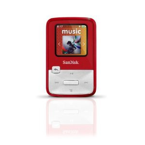 SanDisk Sansa Clip Zip 4 GB Digital player / radio - Red