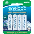 Sanyo 1500 eneloop 8 Pack AA Ni-MH Pre-Charged Rechargeable Batteries