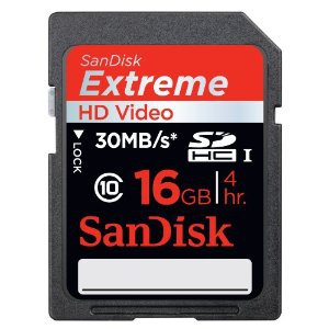 SanDisk 16GB Extreme Secure Digital High Capacity (SDHC) Card - SDSDRX3-016G-A21