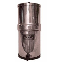 "Big Berkey Water Filter with 4 7"" British Berkefeld Ceramic Filters"