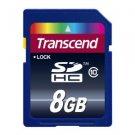 Transcend 8 GB SDHC Class 10 Flash Memory Card TS8GSDHC10