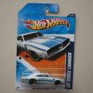 Hot Wheels 2011 HW Main Street '69 Dodge Charger (white)