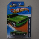 Hot Wheels 2012 Heat Fleet Dodge Challenger Concept (green - Walmart Excl Redline)