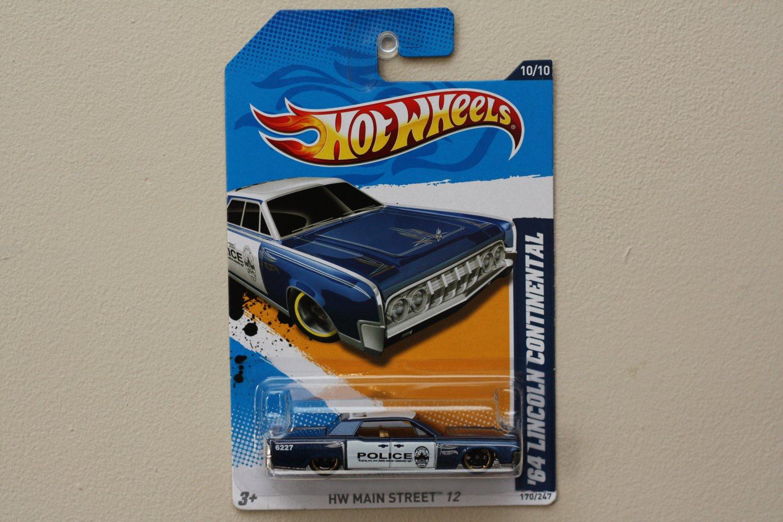 Hot Wheels 2012 HW Main Street '64 Lincoln Continental (blue)