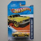 Hot Wheels 2011 HW Main Street '70 Ford Mustang Mach 1 (yellow)