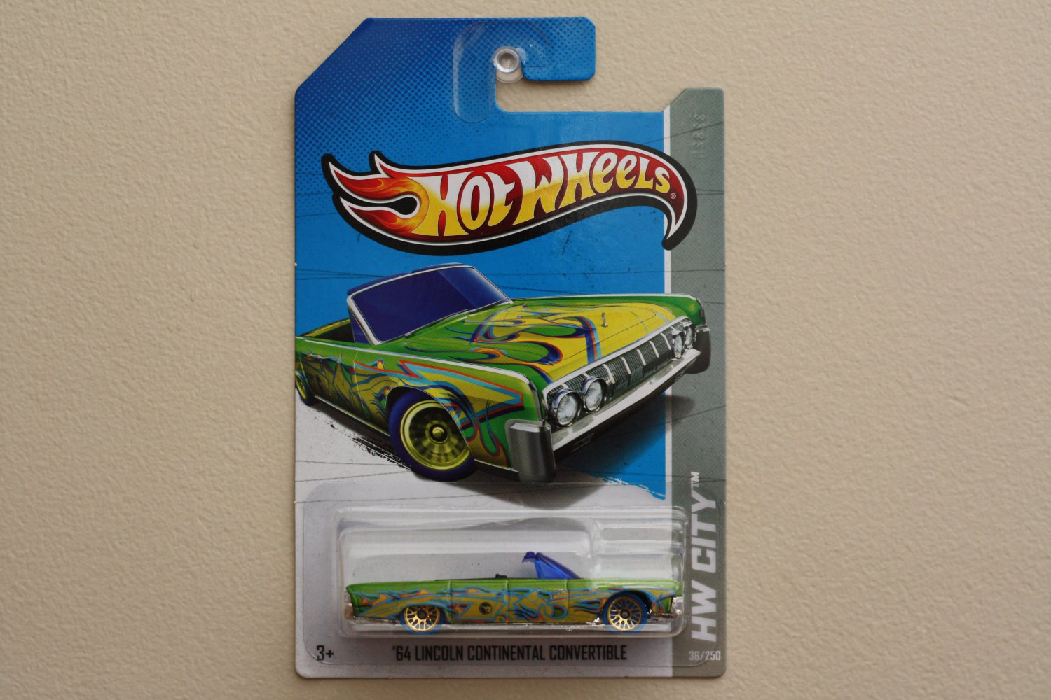 /' 64 LINCOLN CONTINENTAL CONVERTIBLE ~ Hot Wheels  ~ 2013 ~ TREASURE HUNT