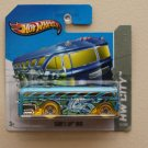Hot Wheels 2013 HW City Surf's Up Bus (Surfin School Bus) (blue)