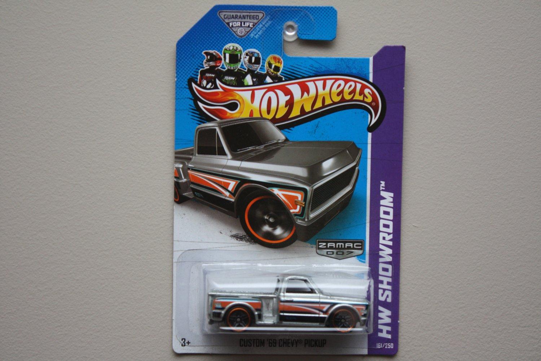 Hot Wheels 2013 HW Showroom Custom '69 Chevy Pickup (ZAMAC Silver - Walmart Excl.)