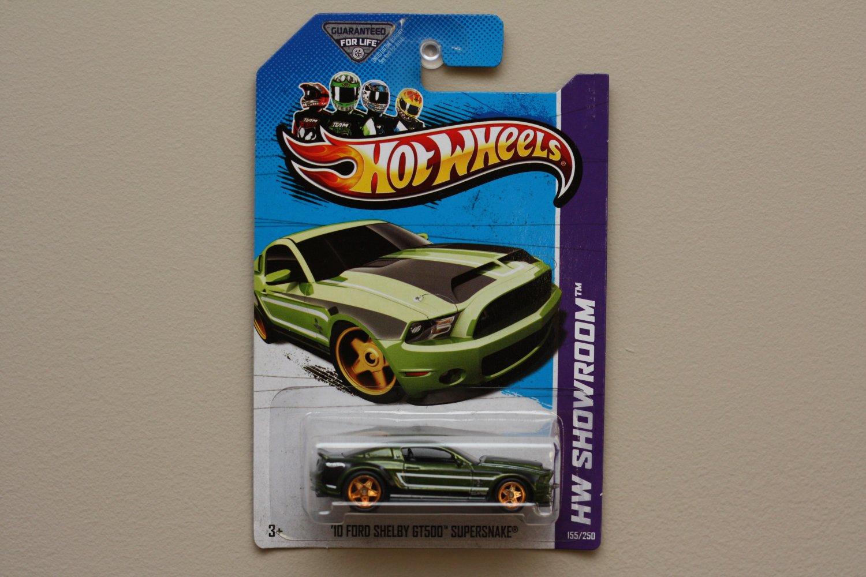 Hot Wheels 2013 HW Showroom '10 Ford Shelby GT500 Supersnake (green) Super Treasure Hunt