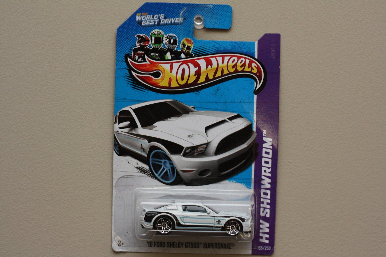 Hot Wheels 2013 HW Showroom '10 Ford Shelby GT500 Supersnake (white) (chrome wheels variation)