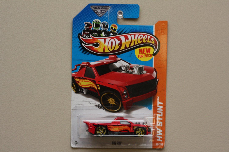 Hot Wheels 2013 HW Stunt Fig Rig (red)