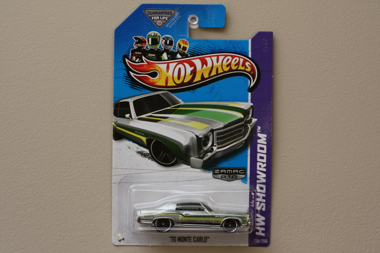 Hot Wheels 2013 HW Showroom '70 Monte Carlo (ZAMAC Silver - Walmart Excl.)