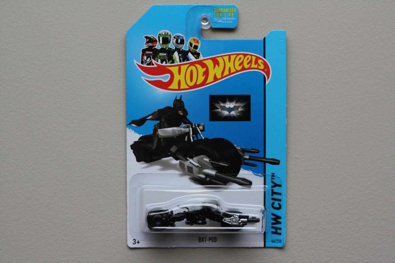 Hot Wheels 2014 HW City Bat-Pod (Batman) (black)