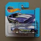 Hot Wheels 2014 HW City '71 Mustang Funny Car (blue)