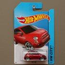 Hot Wheels 2014 HW City Fiat 500 (red)
