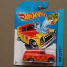 Hot Wheels 2014 Color Shifters '55 Chevy Panel (orange to yellow)