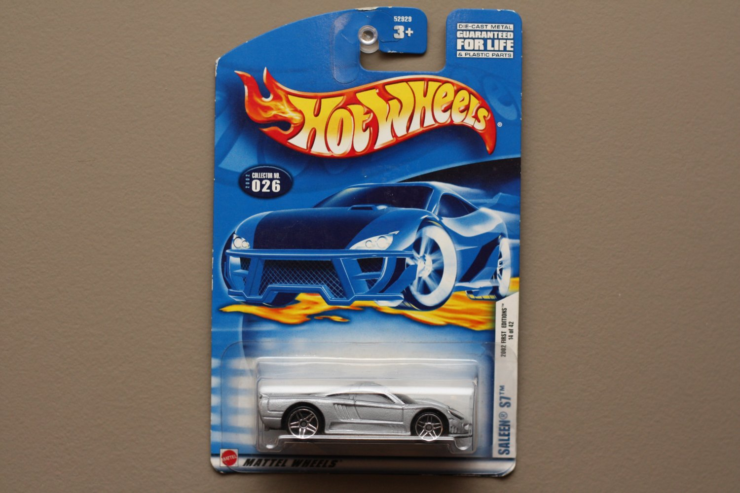 Hot Wheels 2002 First Editions Saleen S7 (silver) (SEE CONDITION)