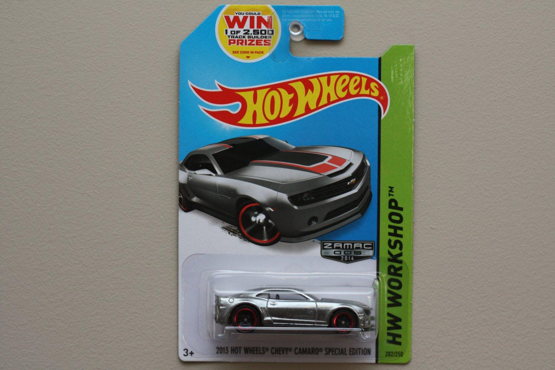 Hot Wheels 2014 HW Workshop 2013 Hot Wheels Chevy Camaro Special Ed. (ZAMAC silver - Walmart Excl.)
