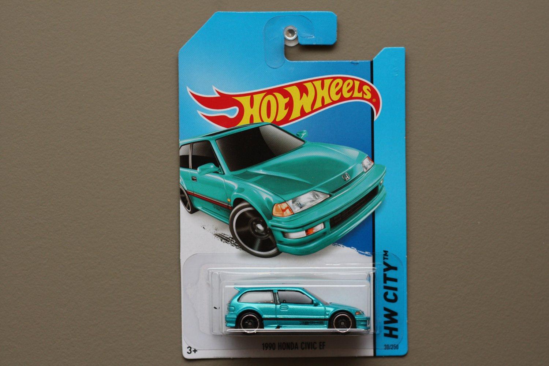 Hot Wheels 2014 HW City 1990 Honda Civic EF (turquoise)