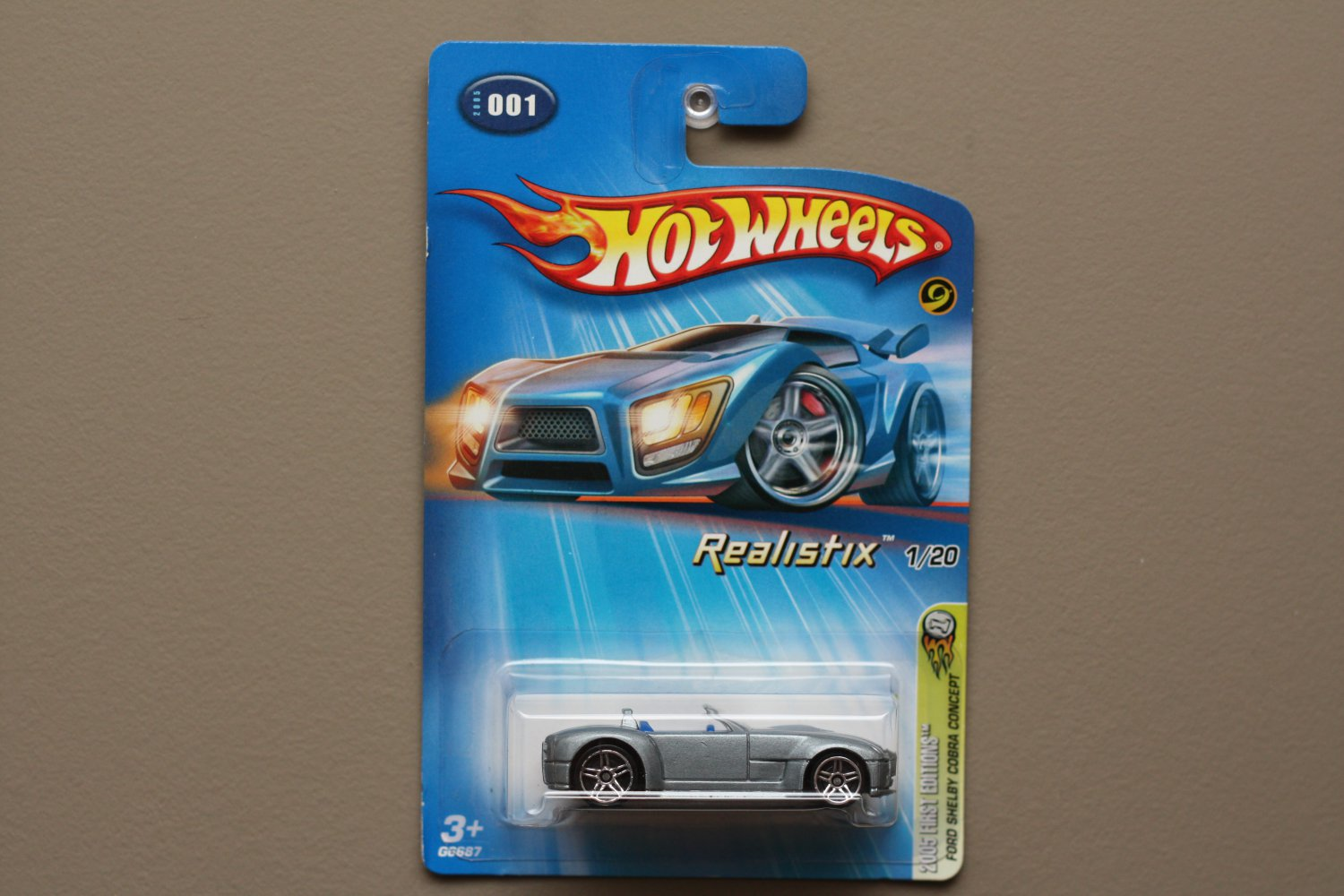 Hot Wheels 2005 First Editions Ford Shelby Cobra Concept (grey)