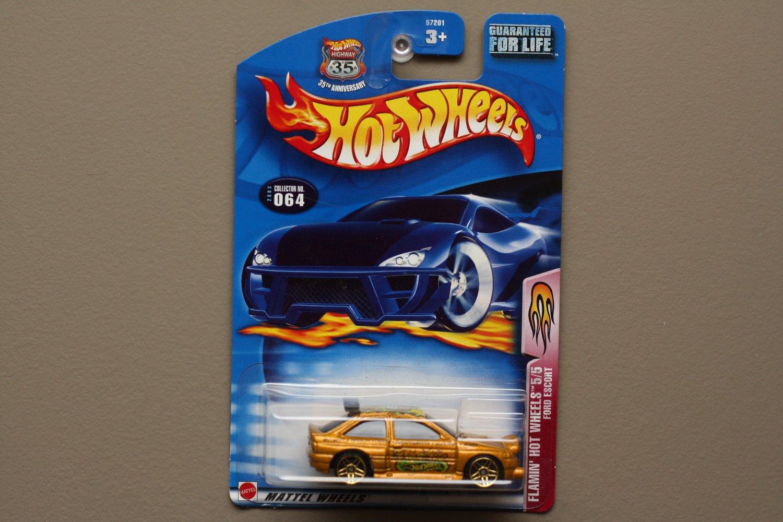 Hot Wheels 2003 Flamin' Hot Wheels Ford Escort Rally (gold)