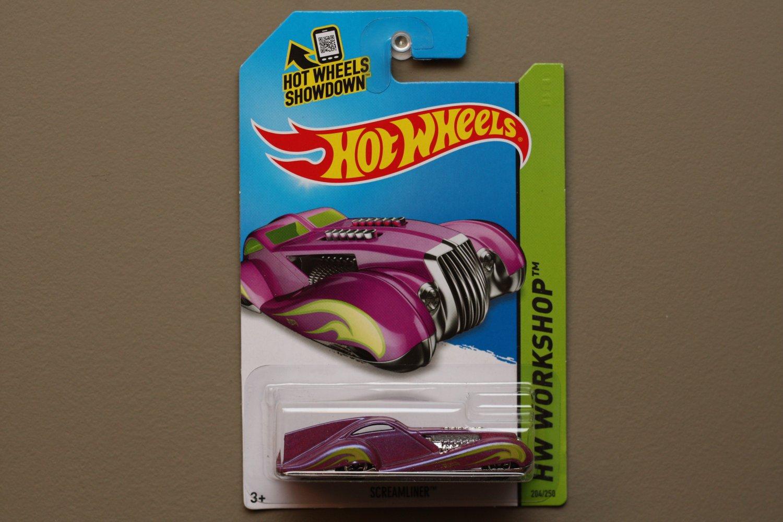 Hot Wheels 2014 HW Workshop Screamliner (magenta) (based off 1925 Rolls Royce Phantom)